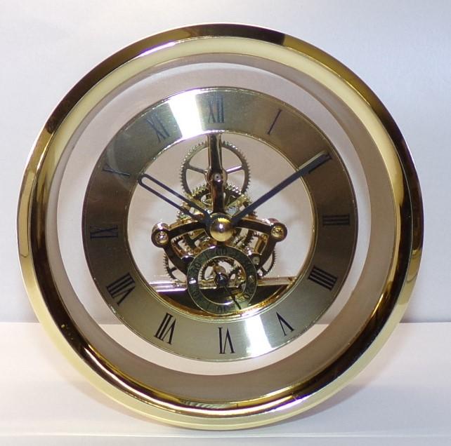 120 gold skeleton clock