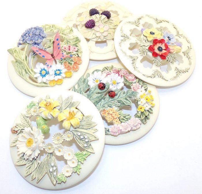 Hand painted Pot pourri lids
