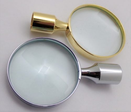 Magnifying Glass, gold or chrome