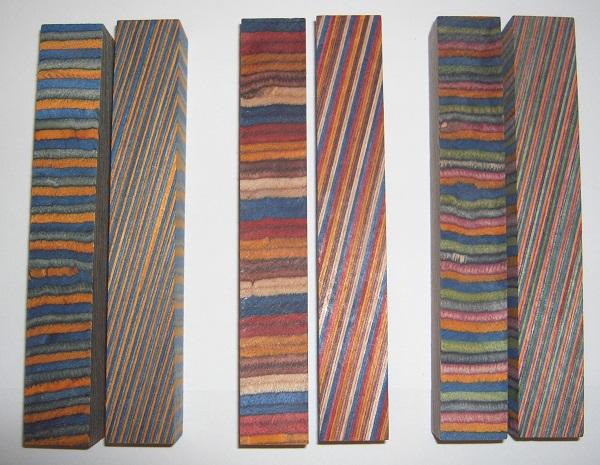 Pen Blanks Colourwood