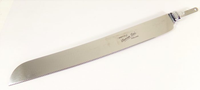 Stamped bread knife blade