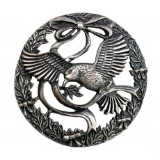 pewter lid bird and bow